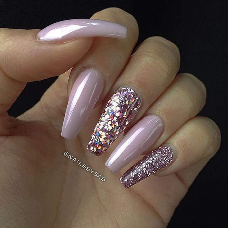 JIULORY 600 piezas de uñas de coffin largo Ballerina uñas puntas de cubierta completa acrílico uñas postizas 10 tamaños (largo natural): Amazon.es: Belleza
