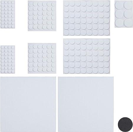 Relaxdays Pack 240 Piezas, Blanco Adhesivo para Muebles con 2 Hojas Papel Fieltro para Recortar: Amazon.es: Hogar