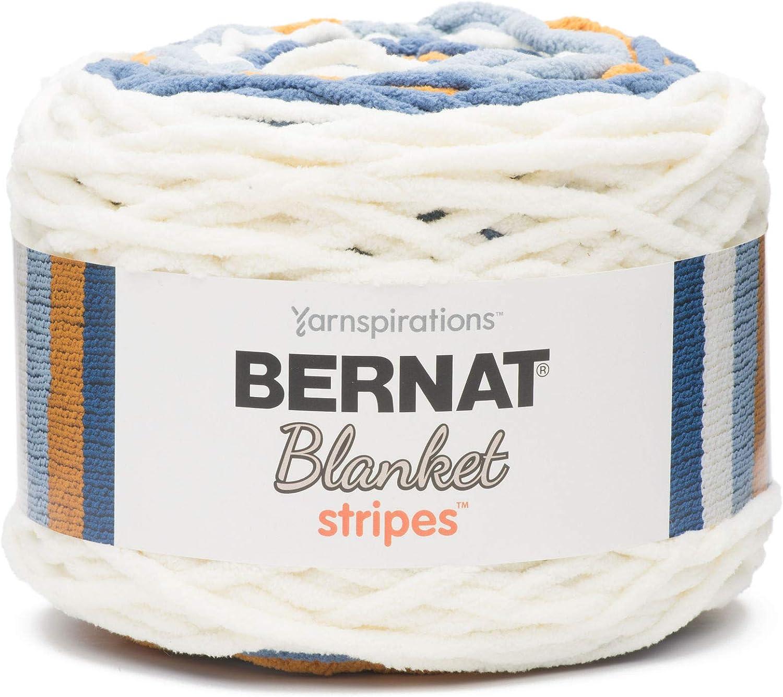 Bernat Blanket Stripes Yarn, 10.5 oz, Gauge 6 Super Bulky Chunky, Big Sky Country