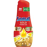 Somat Gold Power Dishwasher Gel (39 Washes / 700mL), Fast Dissolving Detergent for Dishwashers Leaves No Residue…