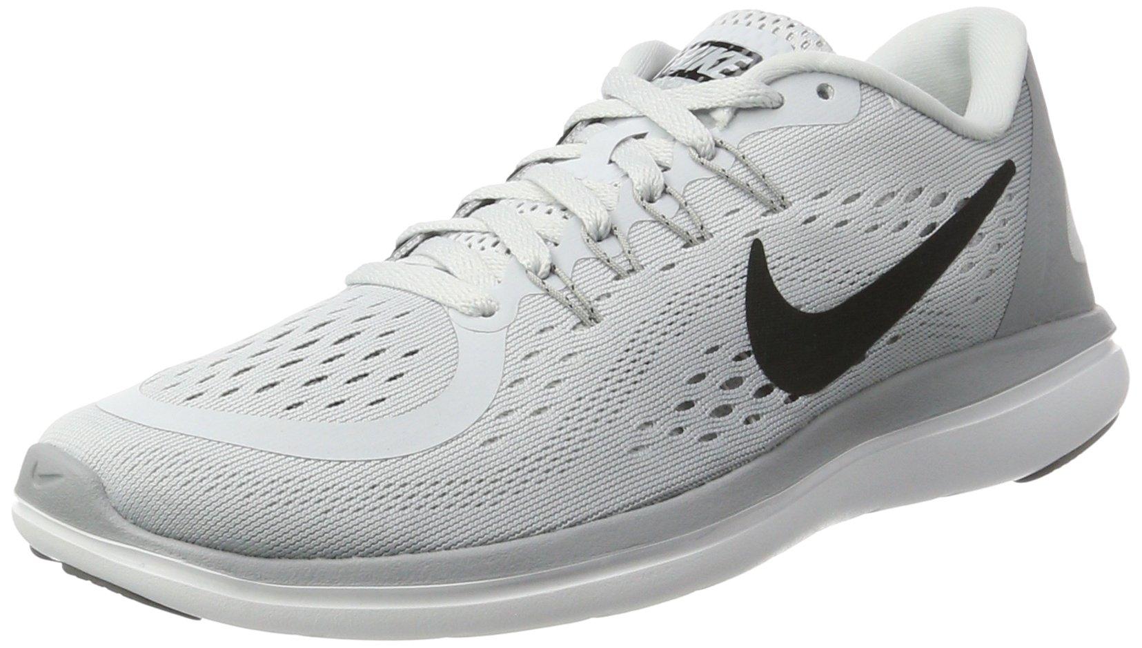 Nike Women's Flex 2017 RN Running Shoe (7, Pure Platinum/Black/Wolf Grey/Cool Grey) by Nike