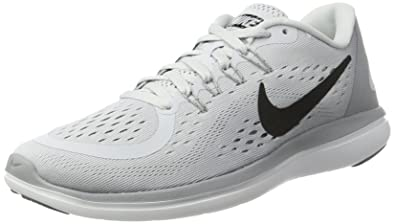 ffeaa46d10a56 Image Unavailable. Image not available for. Color  Nike New Women s Flex  2017 RN Running Shoe Platinum Black 7