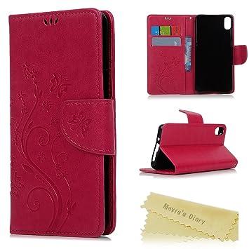 bq Aquaris X5 Funda Libro de Suave PU Leather Cuero Impresión - Maviss Diary Carcasa Con Flip case cover,Cierre Magnético,Función de ...