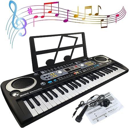 JJPRIME - Teclado de piano digital portátil de 54 teclas ...