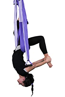 QUBABOBO Hamaca de Yoga Tafetán de Nailon Antigravedad Swing ...