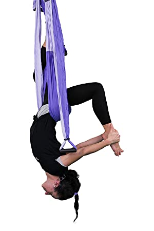 YOGABODY Yoga Trapecio® Púrpura - Yoga swing, Yoga Sling, Yoga Inversion Herramienta