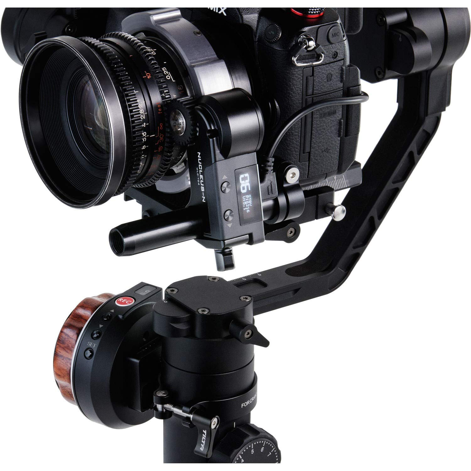 Gimbal Such As Ronin S Mirrorless or Cine-Style Lenses on Cage Tilta Nucleus-Nano Wireless Focus Control System to Wirelessly Control The Focus of Most DSLR