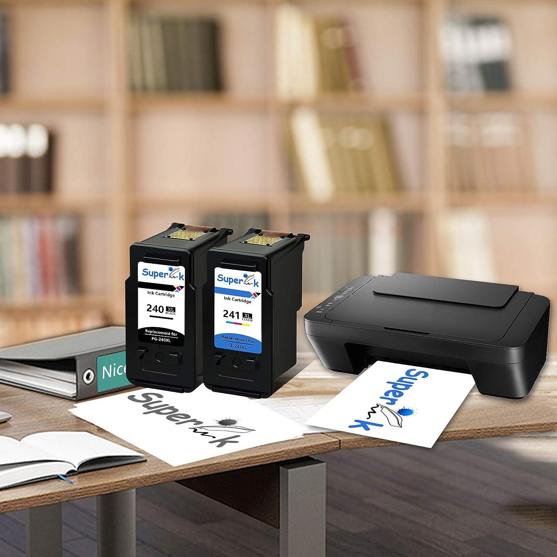 SuperInk 6PK Remanufatured Ink Combo Black PG-240XL Color CL-241XL PIXMA MX479 MX372 MG2220 MG3220 Printer Ink Cartridge Set 4PK PG240XL,2PK CL241XL