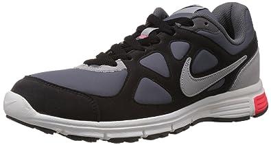 Nike Men's Revolution Ext Dark Grey,Silver,Black,Military Blue Running  Shoes -