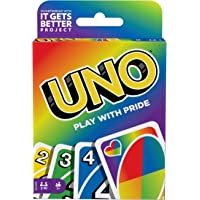 UNO Play with Pride Card Game with 112 Cards and Instructions, Great Gift for Ages 7 Years Old & Up