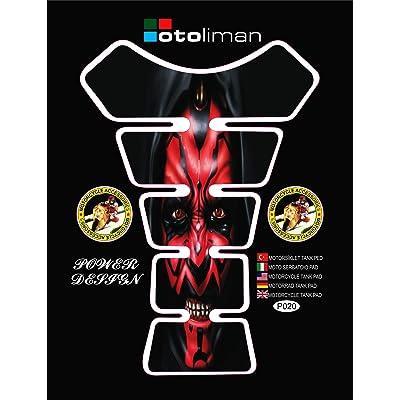 OTOLIMAN 3D Motorcycle Carbon Fiber Vinyl Gel Gas Tank Pad Protector Decal and Sticker Tankpad: Automotive