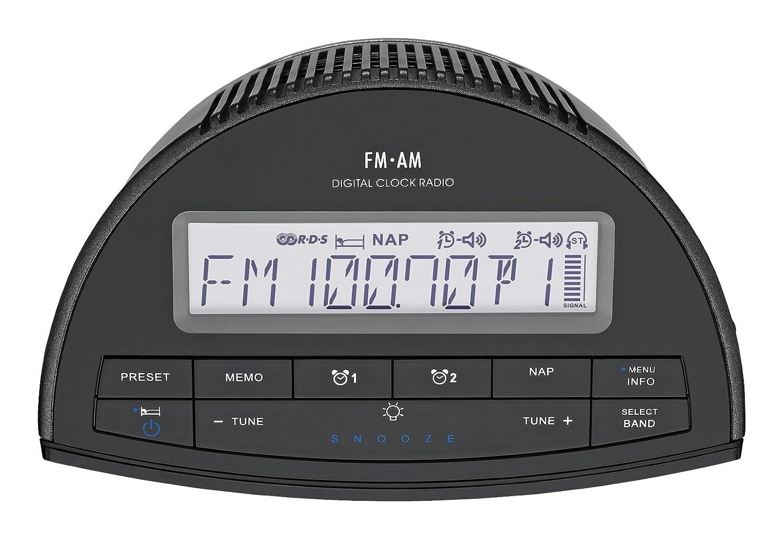 Sangean RCR-9 Reloj Digital Negro - Radio (Reloj, Digital, AM,FM,MW, 87,5-108 MHz, 522-1790 kHz, CT,PS,PTY,RT): Amazon.es: Electrónica