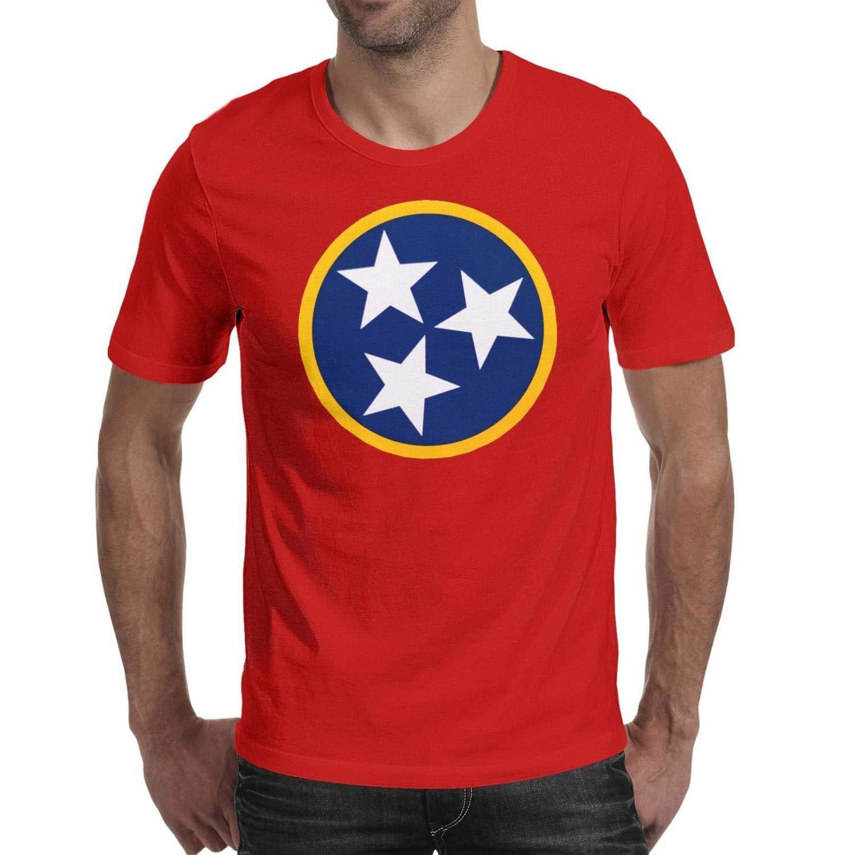 Men Tennessee Orange Tristar Short Sleeve T Shirts Crew Neck Novelty Hygroscopic Shirts