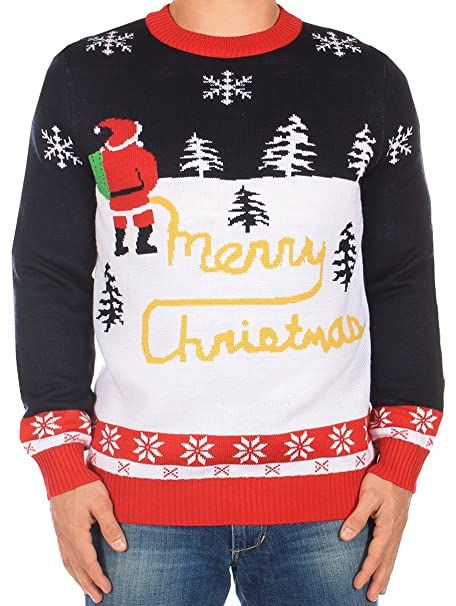 ab8a75ccc Amazon.com  Tipsy Elves Ugly Christmas Sweater - Yellow Snow Sweater ...