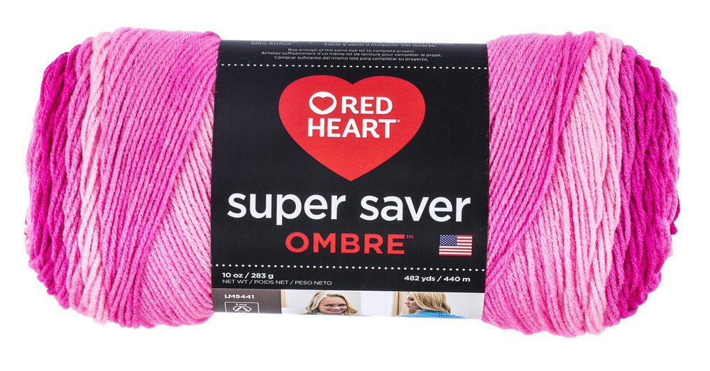 Red Heart Super Saver Ombre Yarn, 10 oz, DEEP Teal Coats & Clark E305.3985