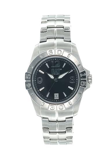 Caterpillar YF 341 11 131 - Reloj de caballero de cuarzo, correa de acero inoxidable color plata: Amazon.es: Relojes