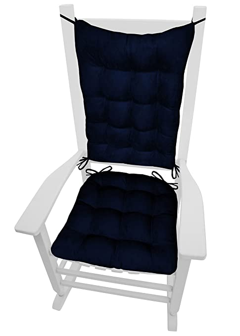 Barnett Products Rocking Chair Cushions   Microsuede Royal Blue Micro Fiber  Ultra Suede   Extra