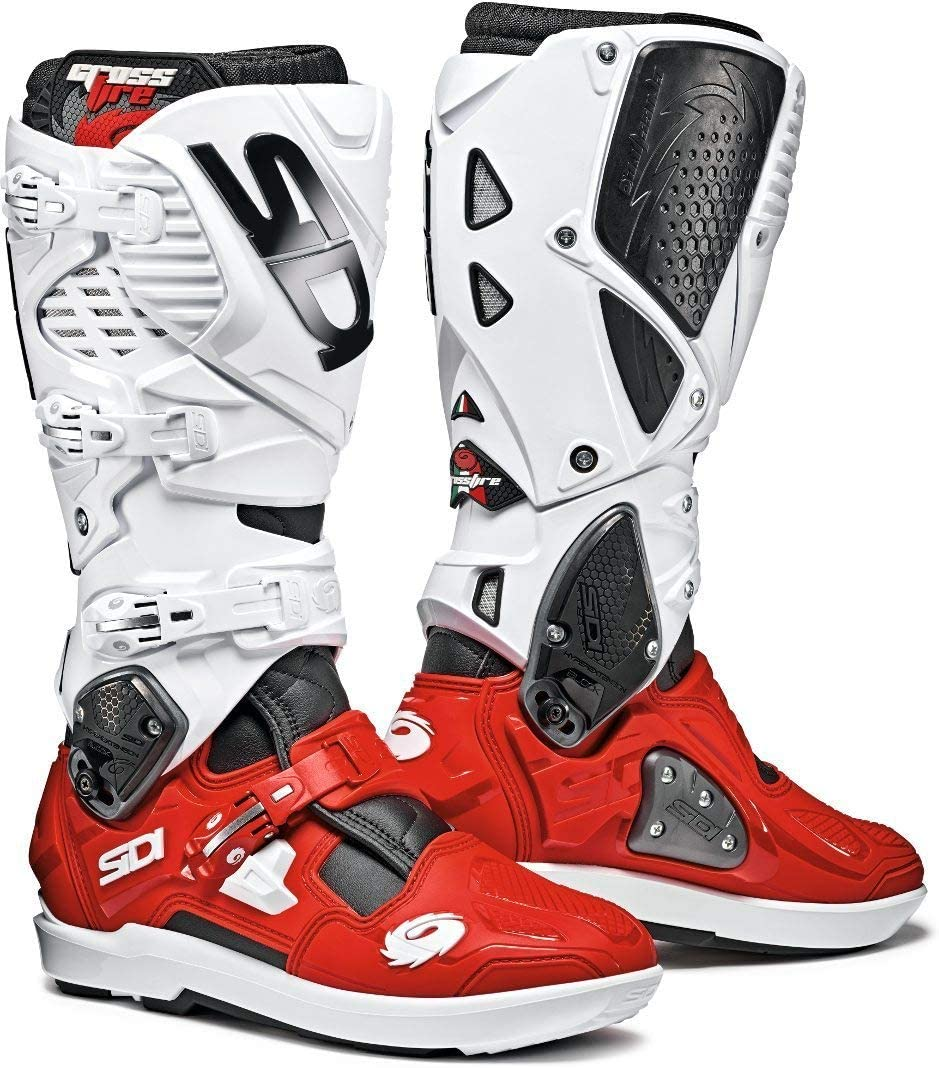 Sidi Crossfire 3 SRS CE Black White Red Motocross Enduro Boots Size EC 41