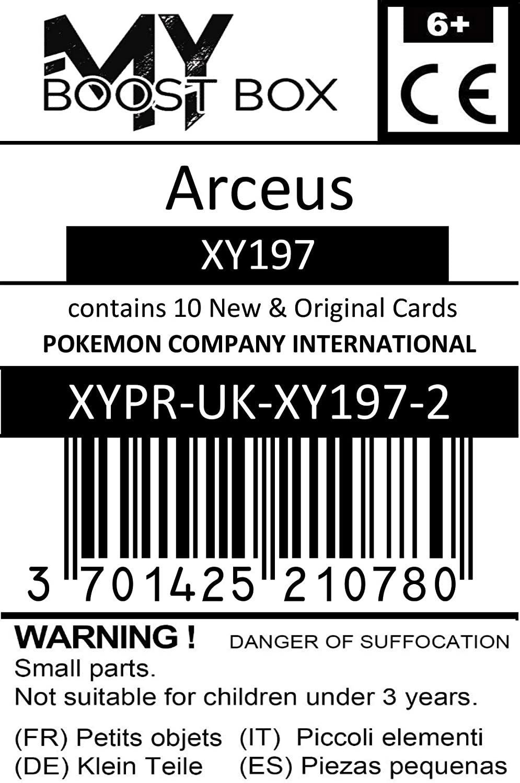 Box de 10 Cartas Pok/émon Inglesas Arceus XY197 Holo MyBoost X XY