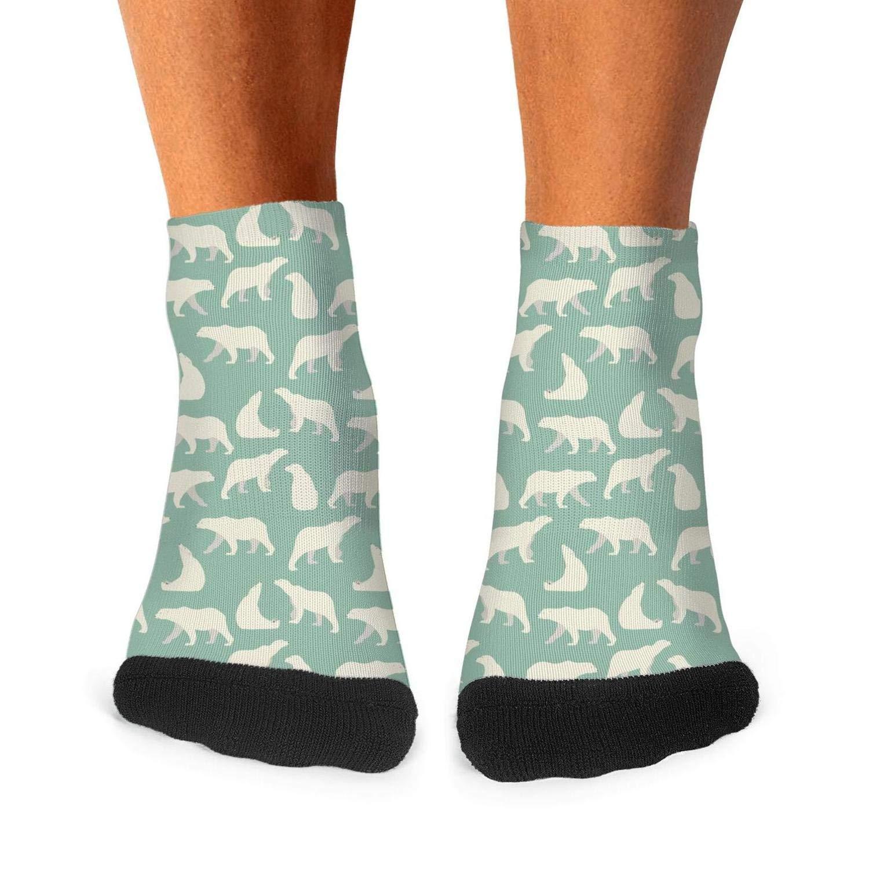 Floowyerion Mens green sun bear relax Novelty Sports Socks Crazy Funny Crew Tube Socks