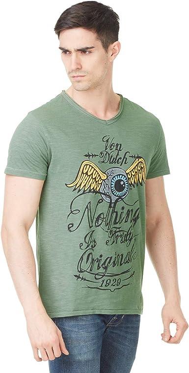 Von Dutch Camiseta Eyes Verde (L): Amazon.es: Ropa y accesorios