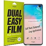 Ringke Dual Easy Doble Fácil de Cobertura Total Protector de Pantalla Galaxy S10 Plus [2-Pack] Alta Resolución [Anti-Manchas