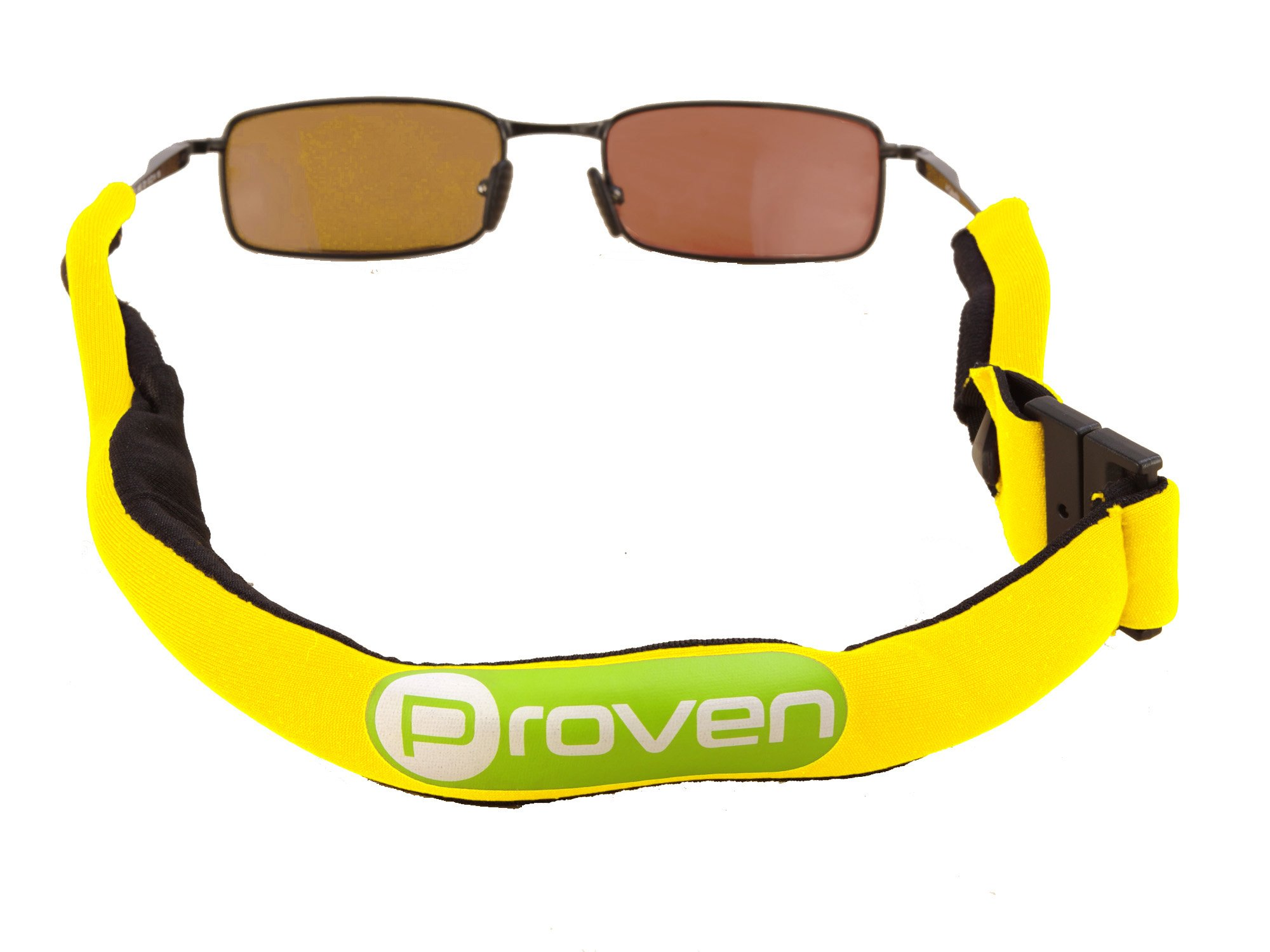 Premium Floating Sunglass Strap; Highly Visible Neoprene Sunglass Holder that Floats; Suitable for Men, Women and Kids (Yellow)
