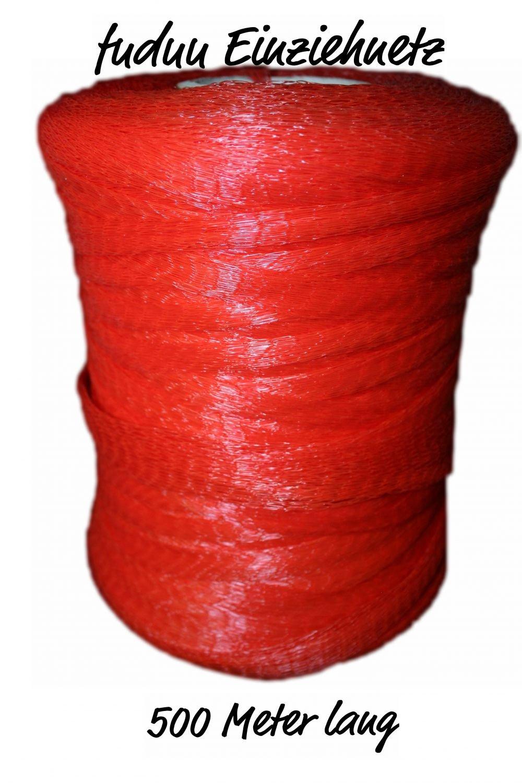 Einziehnetz Verpackungsnetz 500 Meter rot für Dosen & GARTEN STARKES Netz - SEIN ZUSCHNITT ERFORDERLICH GRÖßE - SCHUTZ SEEDLINGS / GEMÜSE / WEICH FRÜCHTE / PFLANZEN / TEICH - BRANDNEU