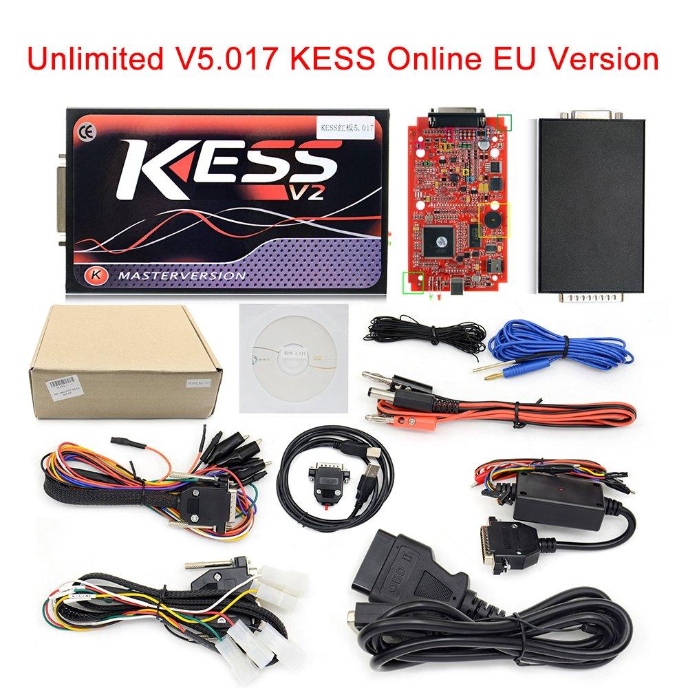 KESS V5.017 SW V2.23 Online EU Version Red KESS V2 Version No Token Limit OBD2 Manager Tuning Kit Car Truck Programmer