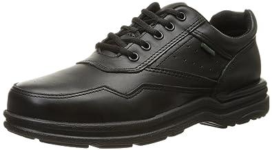 Rockport Mens Black Leather Work Shoes Postwalk Athletic Oxford 6 W