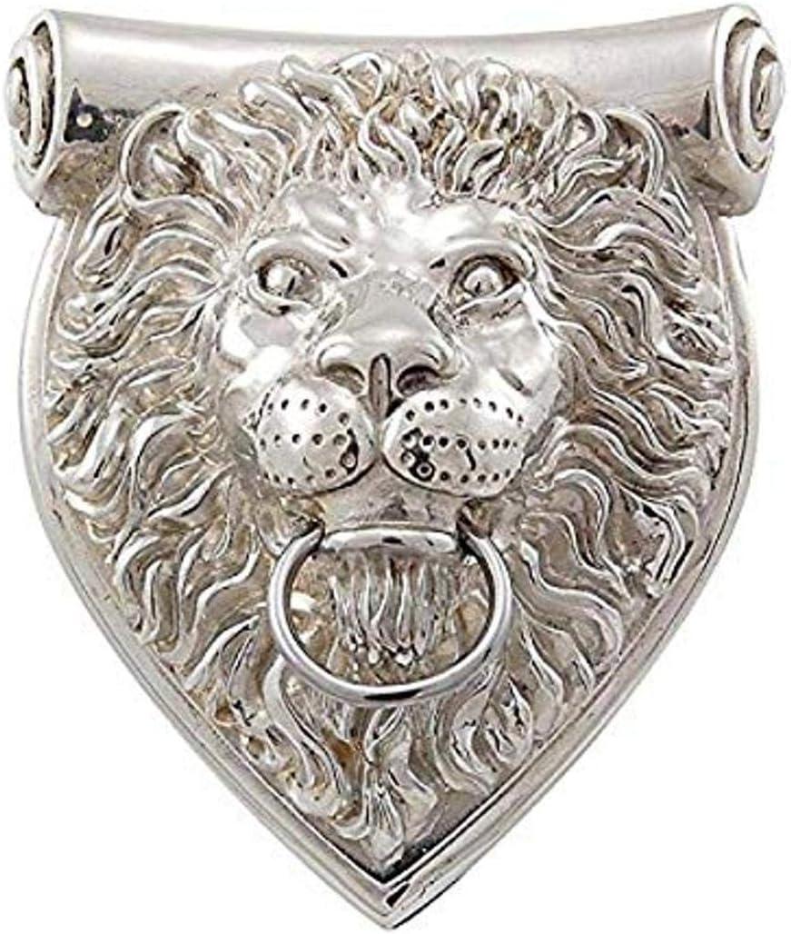 Polished Nickel Vicenza Designs DK9000 Sforza Lion Door Knocker