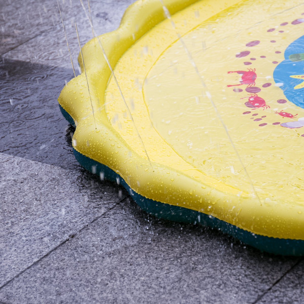 Splash Play Mat, 68in-Diameter Perfect Inflatable Outdoor Sprinkler Pad Summer Fun Backyard Play for Infants Toddlers and Kids by DAPRIL (Image #6)