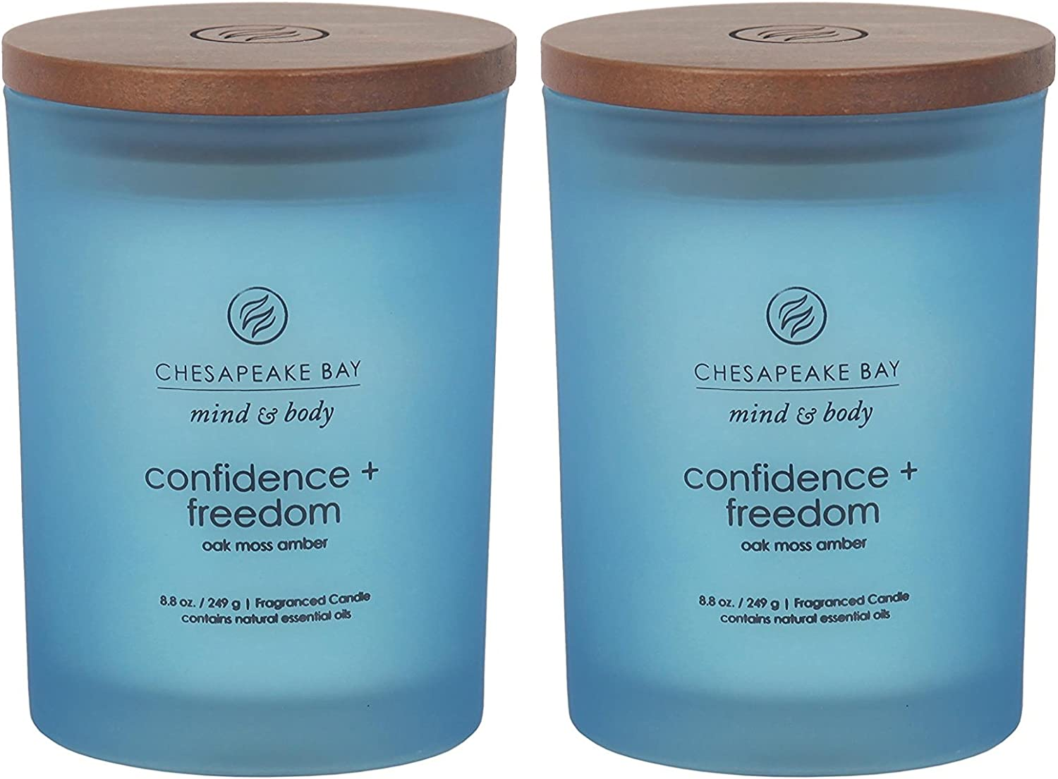 Chesapeake Bay Candle Scented Candles Confidence Freedom Oak Moss Amber Medium 2 Pack Home Kitchen