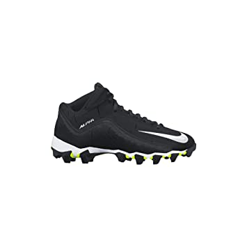 Nike Men s Alpha Shark 2 Three Quarter Football Cleat Dark Grey/Black/White Size 12 M US
