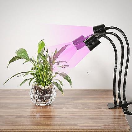 Planta Crecimiento Luz LED crecen luces Triple Head, jcbritw ...