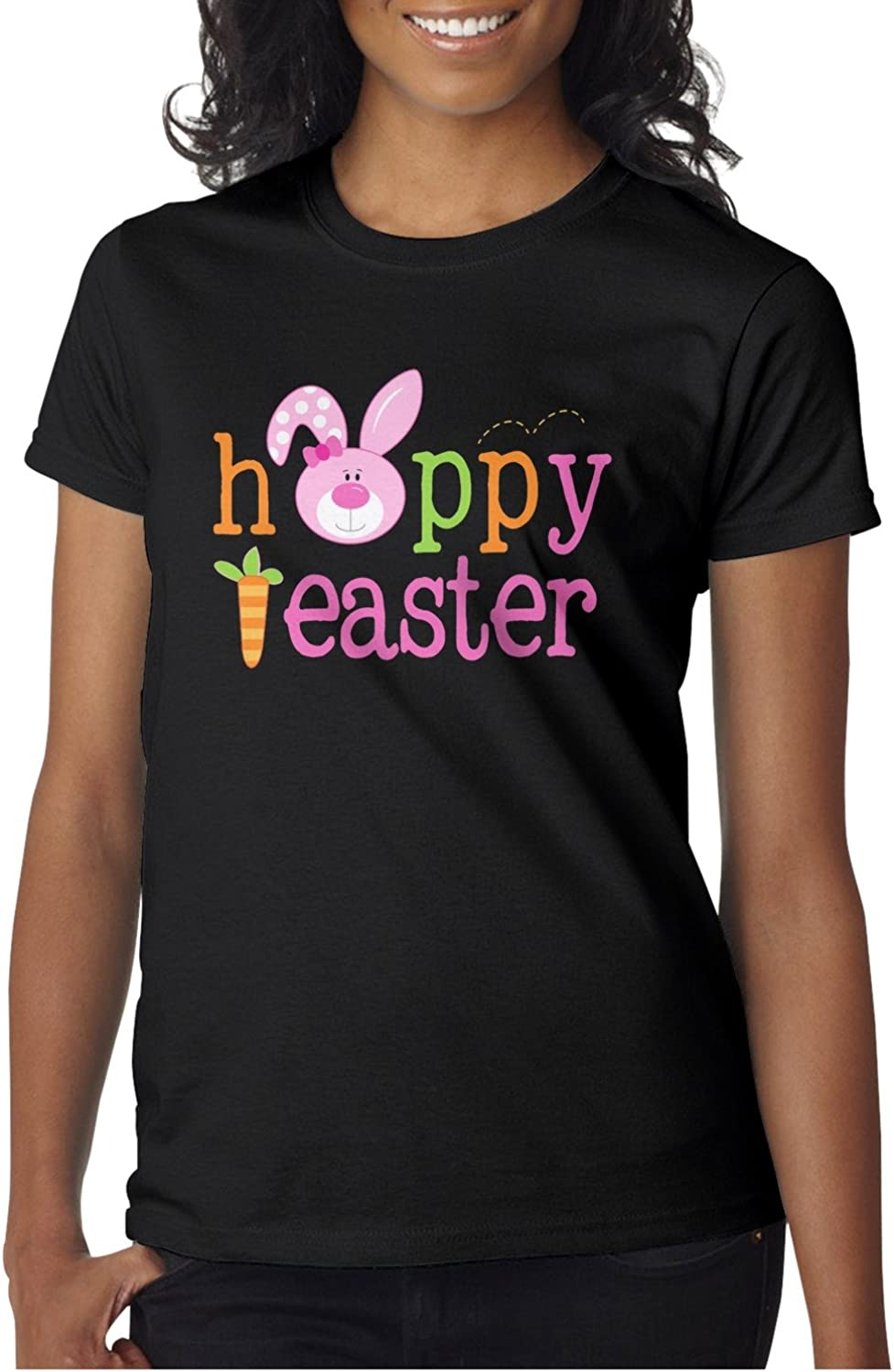 Women Happy Easter For Girls Short Sleeve Womens T Shirts
