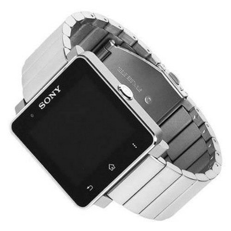 Sony SmartWatch 2 SW 2 con una pulsera de metal de plata ...
