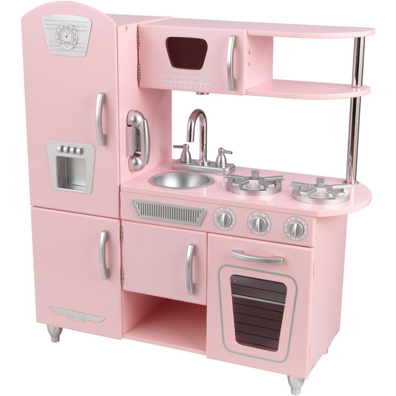 Vintage Kitchen, Kids Play Kitchen - Pink