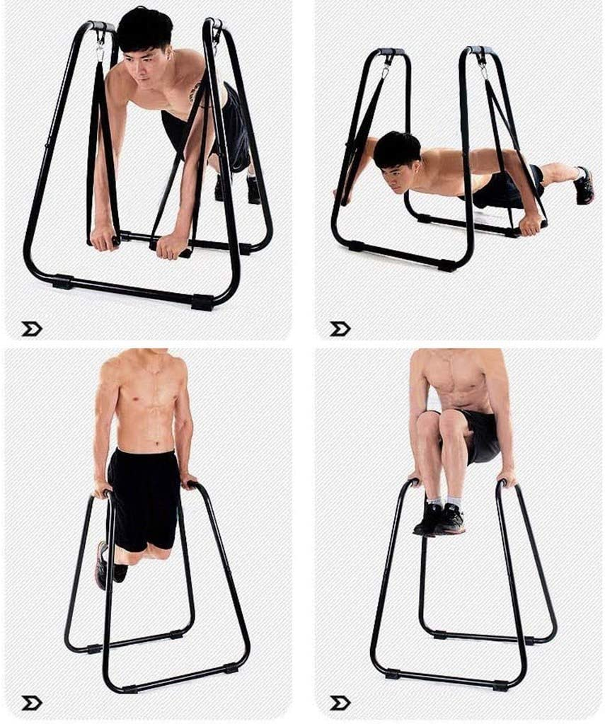uublik Dipping Station Fitness Strength Training Exercise Dip Bar Slings Loops Heavy Duty Ultimate Body Press Bar with Safety Connector for Tricep Dips