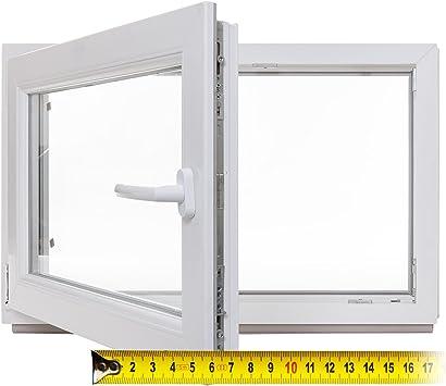 Panorama24 Kellerfenster 60mm Profil Kunststoff 3-fach-Verglasung DIN links wei/ß LAGERWARE BxH: 100x60 cm Fenster