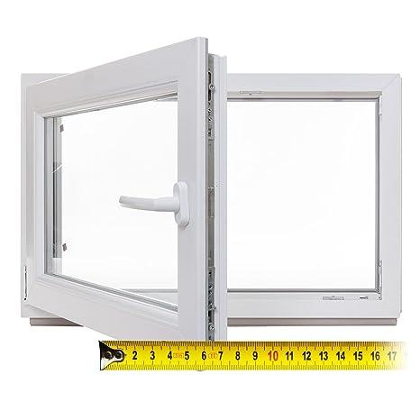 Kunststoff DIN links Fenster 3-fach-Verglasung wei/ß Kellerfenster BxH: 110 x 40 cm Lagerware