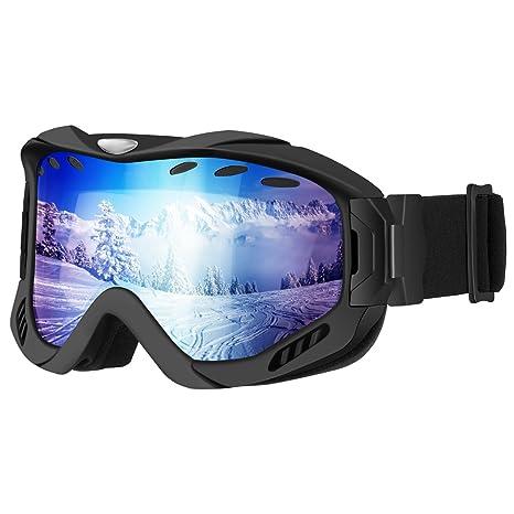 enkeeo maschera da sci  OMORC Maschera da Sci, Occhiali da Sci Snowboard Outdoor Protezione ...