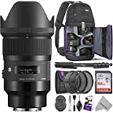 Sigma 35mm f/1.4 DG HSM Art Lens for Sony E Mount Cameras w/Advanced Photo and Travel Bundle