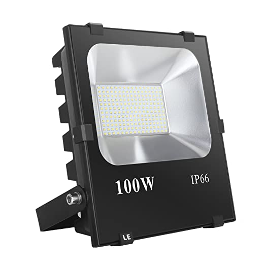 LE Foco proyector LED 100W Exteriores, 10000 lúmenes, Blanco frío ...