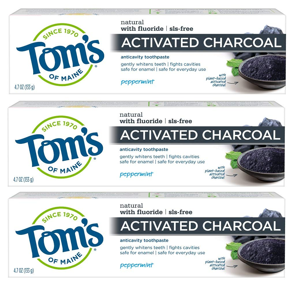 Tom's of Maine Activated Charcoal Toothpaste Best Charcoal Toothpaste