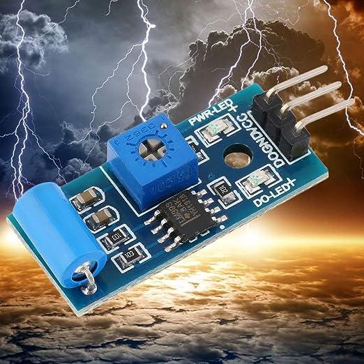 10 unids Normalmente Tipo Cerrado Sensor de Vibración SW-420 3.3 V-5 V Sensor de Vibración Módulo de Alarma Movimiento Shake Shock para Arduino 3.3 V-5 V: ...