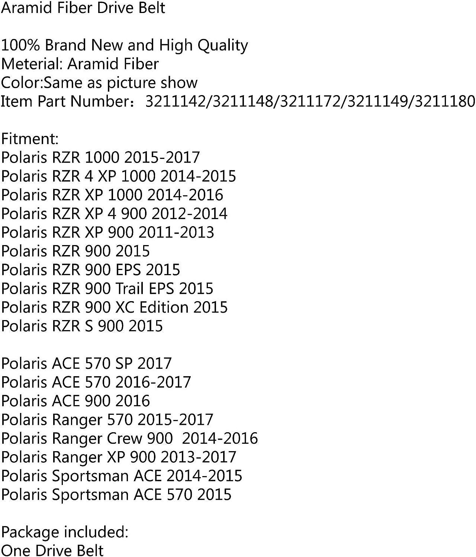 Reemplazo Correas de Transmision de la Motocicleta Drive Belt para Polaris RZR 4 XP S 900//1000 EPS 15 Trail Artudatech Moto Correa de Transmisi/ón