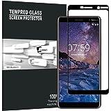 AVIDET Protecteur d'écran en verre trempé pour Nokia 7 Plus haute incurvée defintion 3D Full Film couverture d'écran, anti rayures/Bulles/empreintes digitales sans Dureté 9H 100% Transparent pour Nokia 7 Plus (noir)