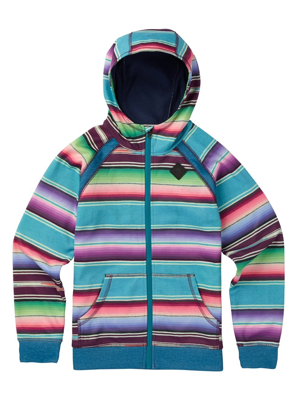 Burton Girls Youth Scoop Full Zip Hoodie Mijita Stripe Size Medium by Burton