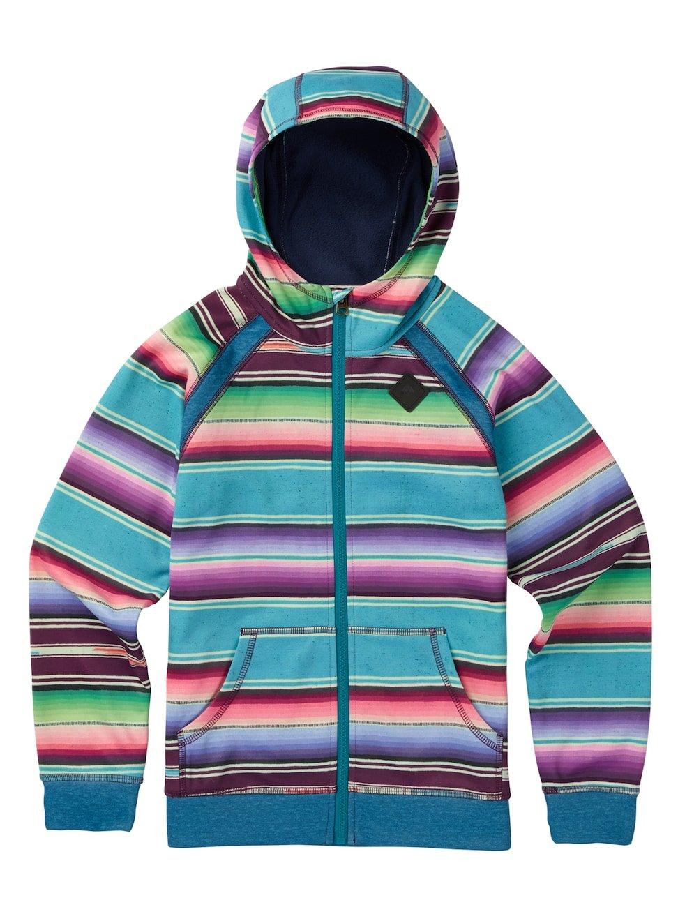 Burton Girls Youth Scoop Full Zip Hoodie Mijita Stripe Size Large by Burton